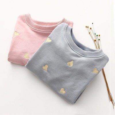 【親子百寶袋】寶寶刺銹衛衣 2018秋裝新款女童童裝兒童長袖外套上衣