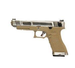 (武莊)WE WET G35 G009 能量版-瓦斯手槍(銀滑套銀槍管沙身)-WEG009W8