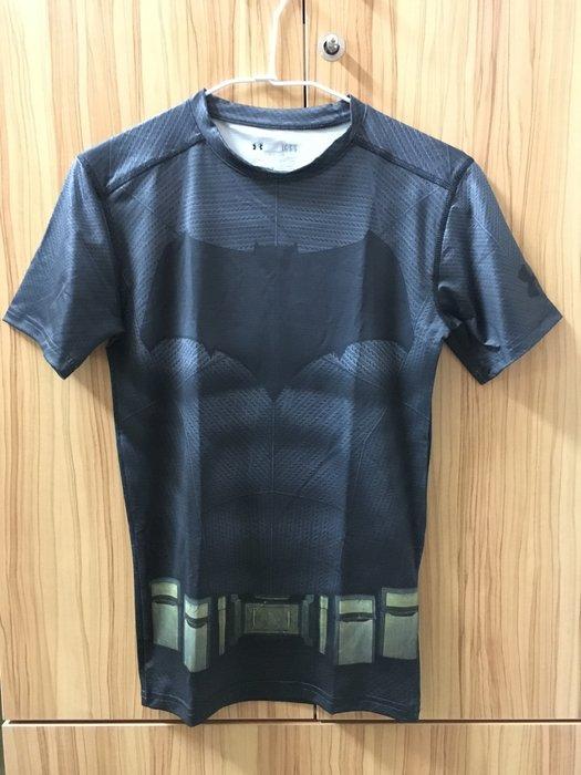 全新 UNDER ARMOUR 短袖 緊身衣 健身 重訓 慢跑 蝙蝠俠 台灣公司貨 1273690-040 最後一件