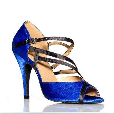 5Cgo【鴿樓】會員有優惠  18368357022 女式拉丁舞蹈鞋 恰恰國標 廣場跳舞鞋新款 軟底高跟 室內舞蹈鞋 另