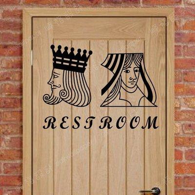 峰格壁貼〈廁所標誌 /P061L〉L尺寸賣場   WC 營業場所標示 防水貼紙    男女洗手間標誌 restroom