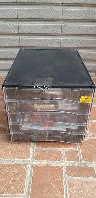 桌面抽屜式收納盒塑膠時尚透明多層文具抽屜櫃