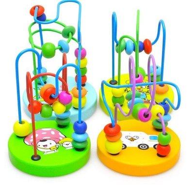 安心小鋪《J16》串珠/兒童木質益智早教玩具迷你小繞珠積木木製玩具益智玩具串珠積木