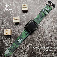 Camouflage Navy Rubber Strap 迷彩 綠色像膠帶 For Apple WatcHh