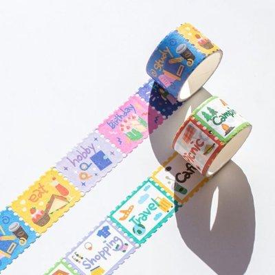 ❅PAVEE❅ 韓國lucalab~ Special Day Masking Tape 特別節日 郵票造型紙膠帶