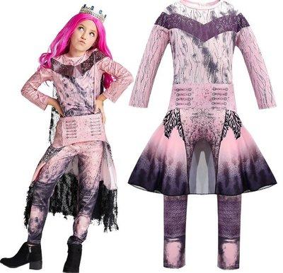 萬聖節變裝秀化裝舞會兒童表演服裝Descendants星光繼承者女童cosplay派對裝扮 (278)
