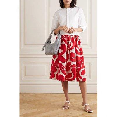 mar連身裙 21夏巴洛克漩渦抽象圖案印花 拼接式抽腰純棉連衣裙  賣場2件9折3件8折特價無折