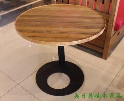 【美日晟柚木家具】ST 15 圓形邊几.鐵腳茶几.客廳邊几.兒童寫字桌  .