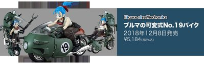 Figure-rise Mechanics 七龍珠Z 布瑪可變型19號機車 摩托車 (55335)