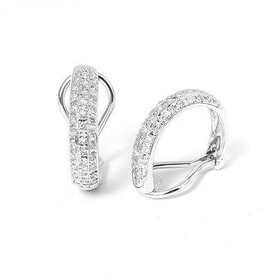 【JHT金宏總珠寶/GIA鑽石專賣】0.70克拉天然鑽石耳環/材質:18K/(D000186)