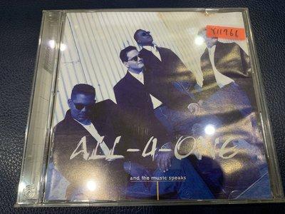 *還有唱片行*ALL 4 ONE / AND THE MUSIC 二手 Y11766 (受潮.49起拍)