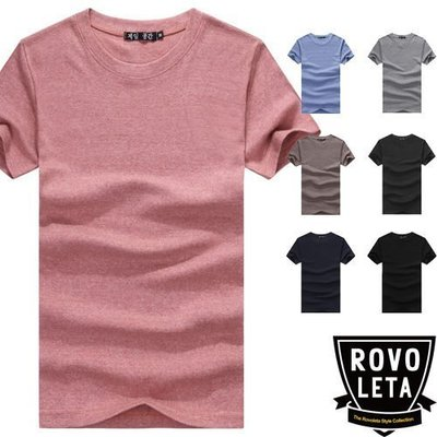 t恤男素面短t shirt【BS-0063】(ROVOLETA)
