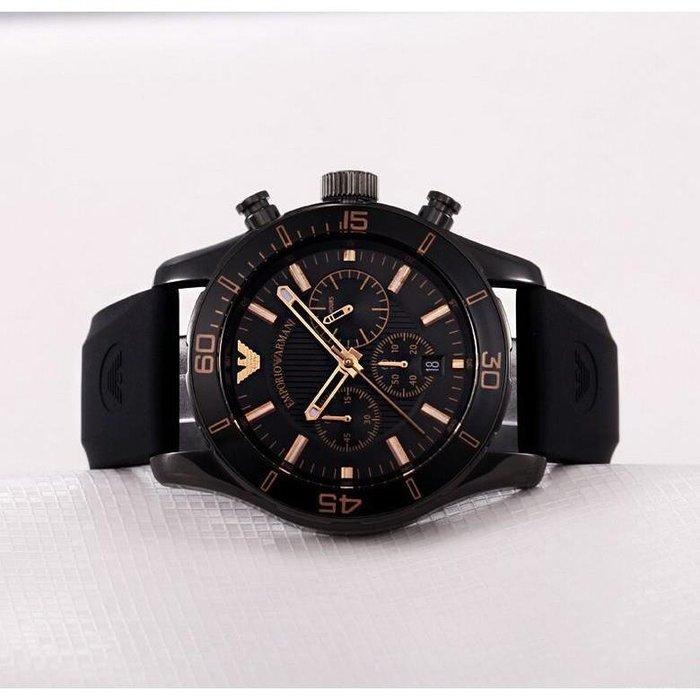 Armani亞曼尼手錶 男士腕錶 潮流時尚 三眼計時多功能石英錶男AR-5946