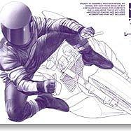 田宮拼裝摩托車模型14122 1/12 賽車手 駕駛員轉彎騎姿 姿勢