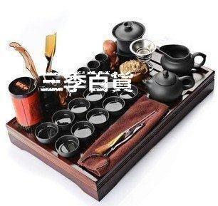三季功夫紫砂陶瓷茶具實木茶盤茶道茶海茶寵整套茶道茶海茶杯茶壺❖599