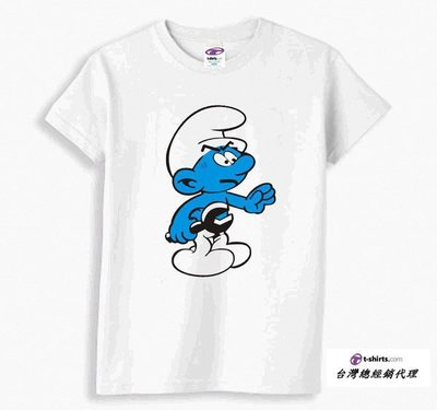 Smurf Piss Off 藍色小精靈 美式進口卡通短T/Anvil/Hanes/Gildan/T-shirt.Com