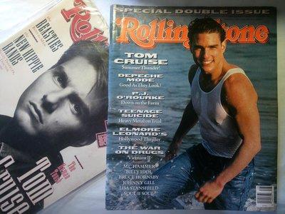 滾石雜誌 1990年7月 Tom Cruise 湯姆克魯斯 封面 流行尖端 Depeche Mode 樂團  139頁