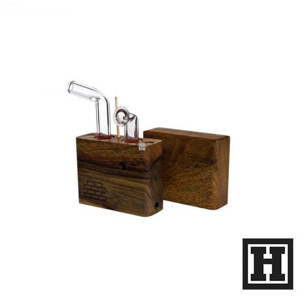 [H Market] 美國原裝 Sticky Brick Junior 熱對流菸斗 原木製造 Pipe Bong 420