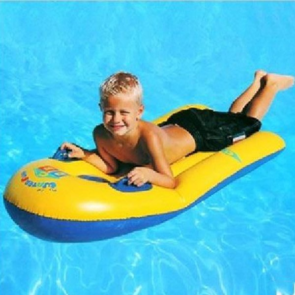 5Cgo【批發】含稅會員有優惠 45902597625 加厚兒童充氣衝浪板游泳浮板浮床遊泳圈水上充氣床充氣游泳池(2個)
