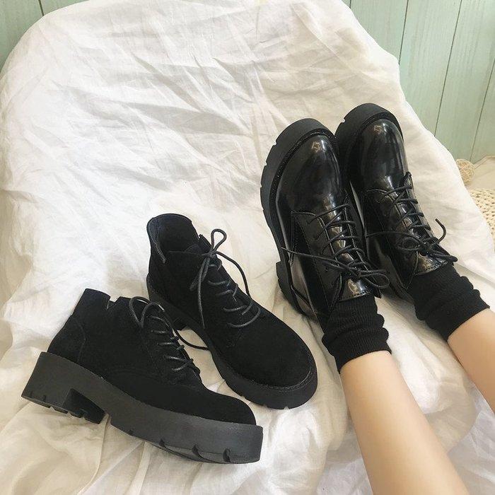 999短靴 靴子 馬丁靴 牛津靴  韓國街頭風chic潮酷日系原宿松糕厚底機車朋克馬丁騎士女靴鞋