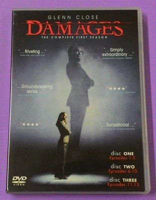 【大謙】《 金權遊戲 Damages (第1季.3碟.共13集) 》 台灣正版二手DVD