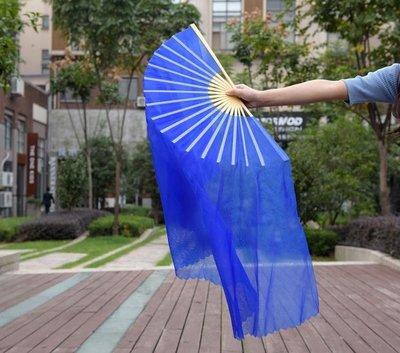 舞蹈扇子扭秧歌廣場舞成人表演雙面加長跳舞紗扇全館免運