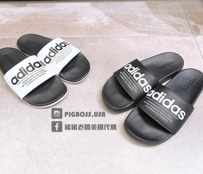 【豬豬老闆】ADIDAS ADILETTE COMFORT 拖鞋 休閒 男女款 白FX4287 黑4293 紅4288