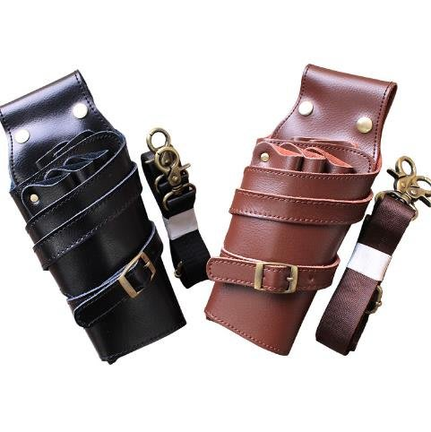 真皮發型師剪刀腰包挎包工具包寵物美容師剪刀包腰包