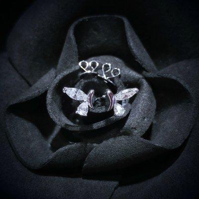 【Peggyhoho】全新18K白金39份超白超閃鑽石耳環|特色蝴蝶耳環 | 大睇靚款