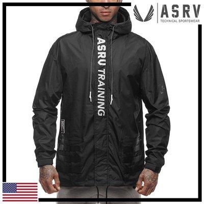 瘋狂金剛▸ 黑 ASRV Training Windbreaker 防風防水連帽運動外套