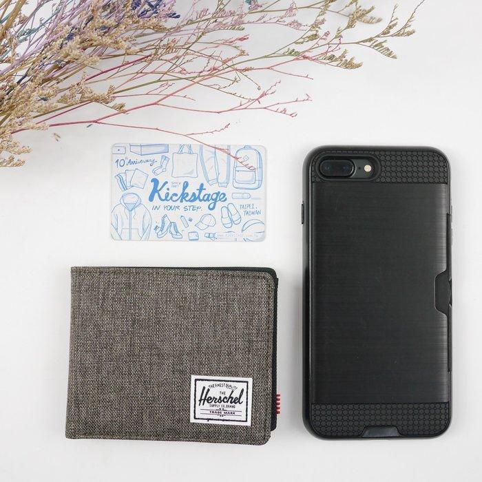KS▸HERSCHEL ROY + 灰綠 丹寧 短夾 卡片夾 信用卡 皮夾【10403-01247】