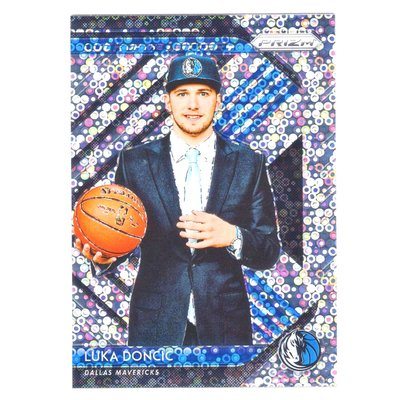 (RC) 小牛一哥 Luka Doncic / Prizm Luck of the Lottery Fast Break系列新人泡泡亮金屬卡 2018-19
