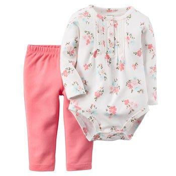 carter's 童裝_baby_2-Piece Bodysuit & Pant Set 小碎花包屁衣+內搭褲
