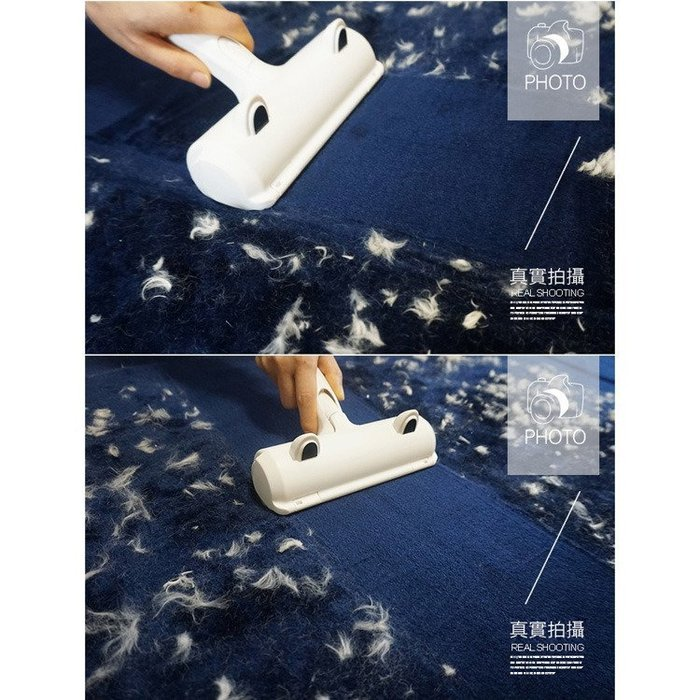 【阿玲】手持式便利滾輪抗菌除毛刷 掃除/寵物/清潔/除毛/棉被除塵/居家清潔 可重複使用免電池免插電