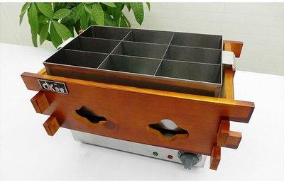 加大不銹鋼款電熱九格關東煮機(爐)加木條隔熱滷味桶保溫桶多款煮麵機煮麵爐252025