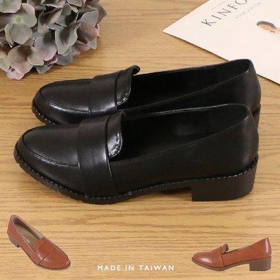 女款 MIT製造皮面質感氣質簡約 低跟鞋 樂福鞋 牛津鞋 學生皮鞋 學生鞋 Ovan