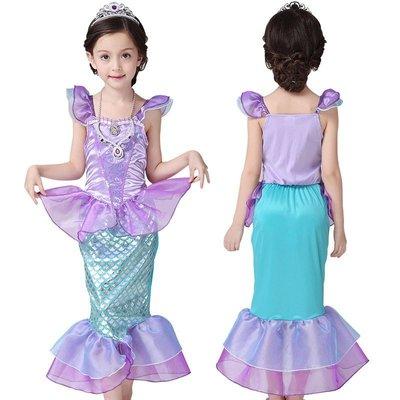 【Kathie Shop】迪士尼小美人魚愛莉兒公主表演服洋裝禮服 萬聖節耶誕節PARTY攝影服