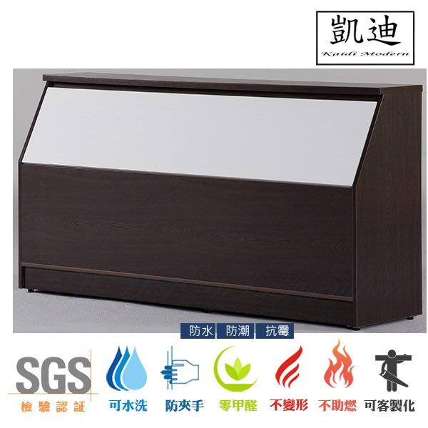 【凱迪家具】M28-965-22 塑鋼5尺床頭箱(白.胡桃色)/桃園以北市區滿五千元免運費/可刷卡