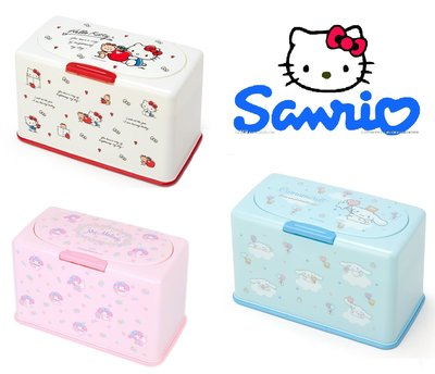《現貨》三麗鷗Sanrio~kitty凱蒂貓 美樂蒂My melody 大耳狗 掀蓋口罩收納盒~日本正品~心心小舖2鋪
