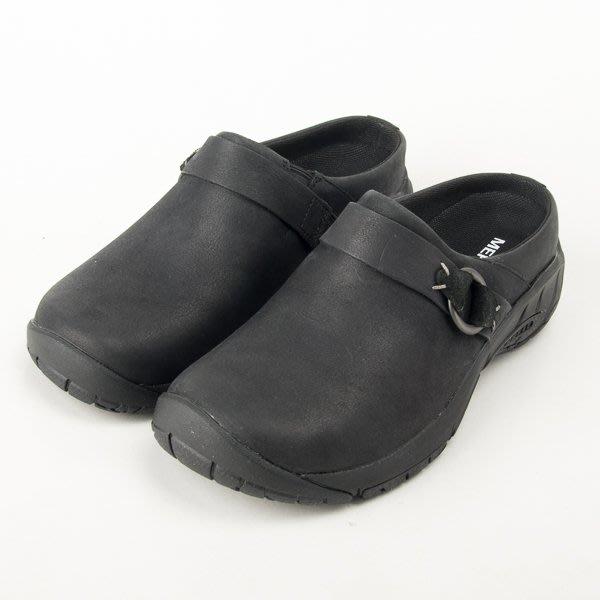 MERRELL 女款 半包 真皮休閒鞋-黑 ML000544  現貨