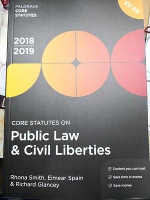 [全新] Core Statutes on Public Law & Civil Liberties 2018-19