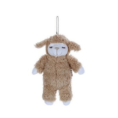 【QQ公仔物語】【DB015】【現貨】日本 LIV HEART 羊公仔吊飾 絨毛娃娃 咖啡色款 滿千免運