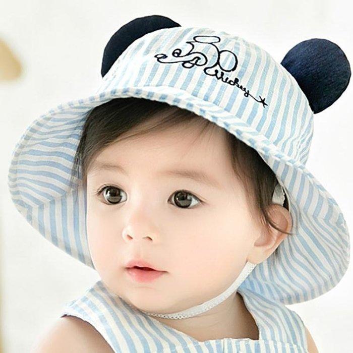 男童帽子0-1-2歲嬰兒遮陽女寶寶漁夫防曬公主可愛女孩薄款
