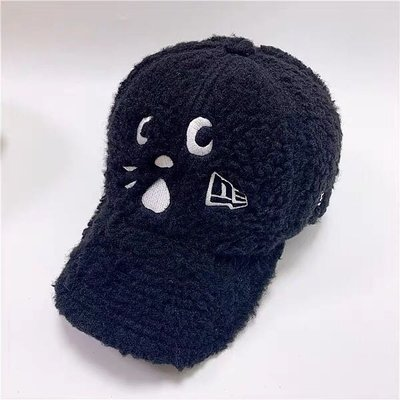 🌸歐夏蕾媽貓屋🌸 新款冬季ne-net 驚訝貓nay 黑貓羊羔絨貓咪棒球帽、鴨舌帽(現貨)