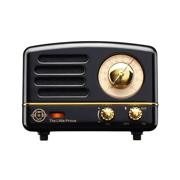 5Cgo【鴿樓】會員有優惠 561063121385  貓王收音機 OTR騎士黑小王子複古藍牙音箱手機便攜小音響 收音機