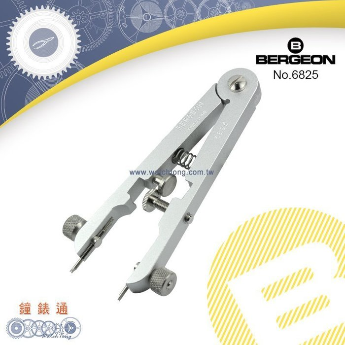 【鐘錶通】B6825《瑞士BERGEON》勞力士拆裝錶帶鉗/叉嘴內徑 1.3/1.1mmm ├ROLEX換錶帶工具┤