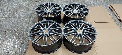( 近全新正品 )Porsche Panamera Turbo 正原廠 21 吋 5 孔 130 前後配鍛造鋁圈一組