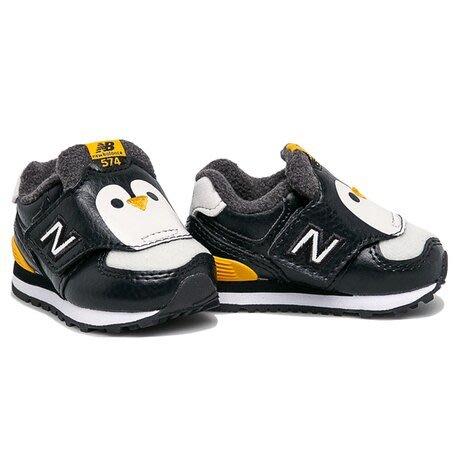 ➕S.P➕ 小童鞋 NEW BALANCE 紐巴倫 NB 574 運動鞋 企鵝 黑 寬楦 W IV574AQP