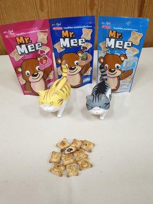 ~魔寶窩~泰國Mr Mee 小蜜熊餅乾,巧克力/草莓/牛奶,一包