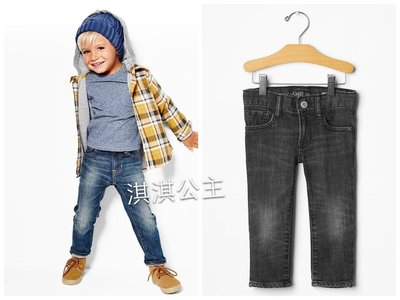 淇淇公主~美國Baby Gap ~帥氣有型skinny Jeans 合身窄管牛仔褲 (現貨) - 2Y 4Y